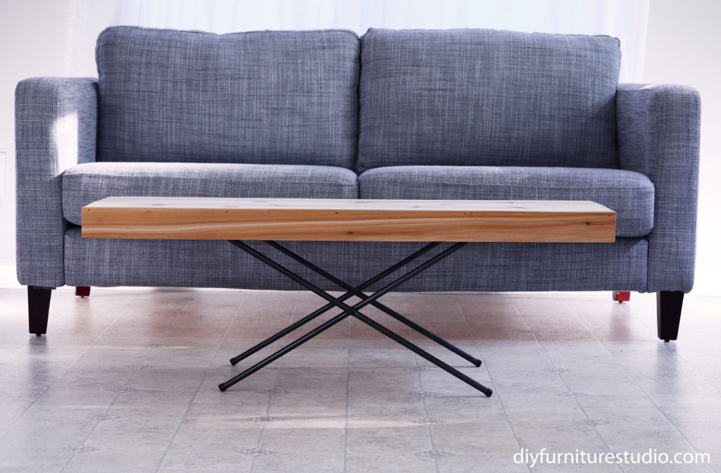 DIY Folding Coffee Table With X Base Legs.