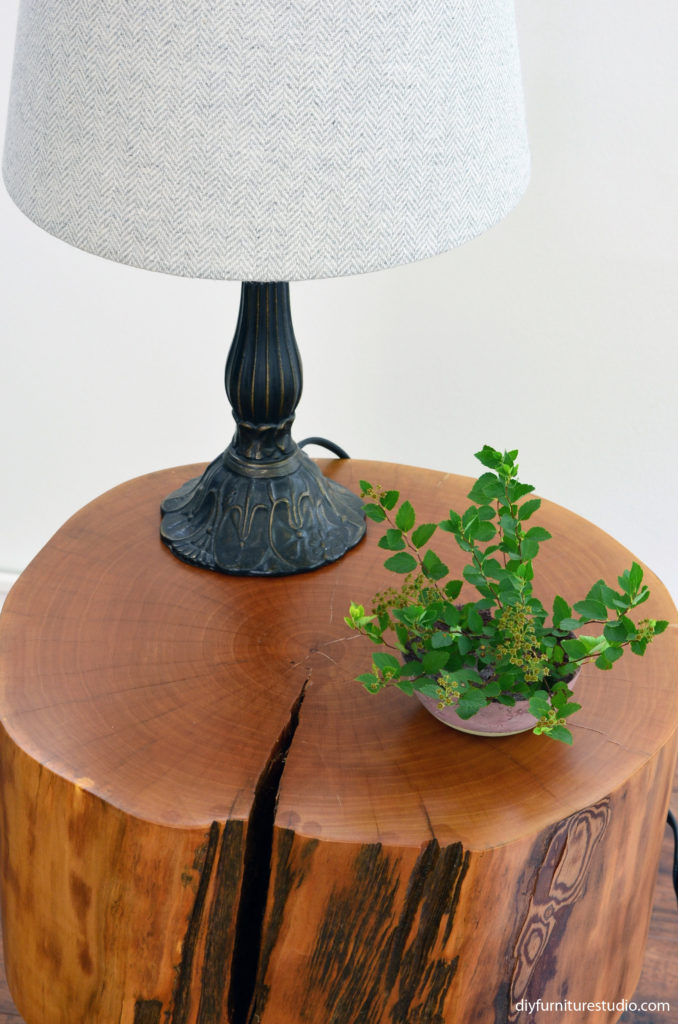 DIY cement bowl and other decor.
