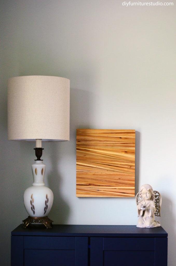 DIY wood shim wall art