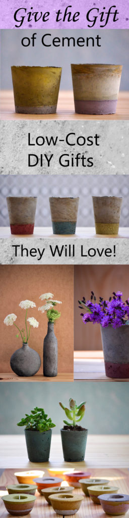 DIY concrete and cement gift ideas by The Happy Tulip, Fall for DIY, DIY in PDX, The Kim Six Fix, Do It Yourself Fun Ideas, Burkatron, and DIY Furniture Studio.