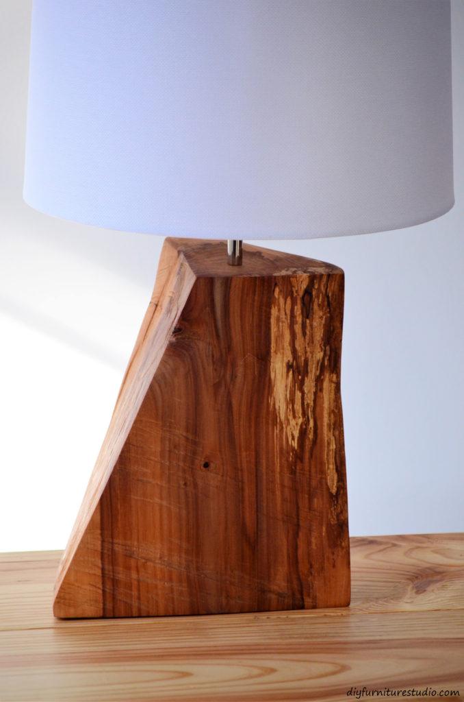 Table lamp tutorial  Natural wood  DIY. DIY Rustic Natural Wood Table Lamp   DIY Furniture Studio