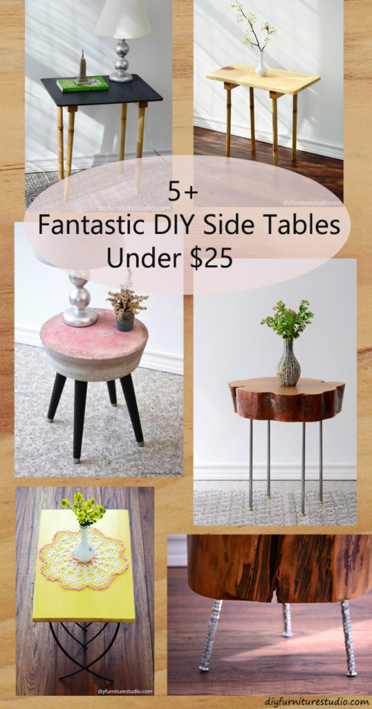 Fantastic DIY Side Tables Under $25 from (your) DIY Furniture Studio.