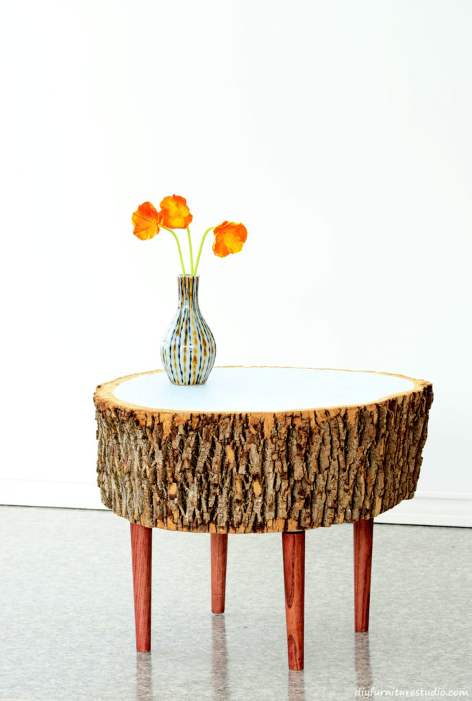 the easy way to make a stump coffee table! | diy furniture studio